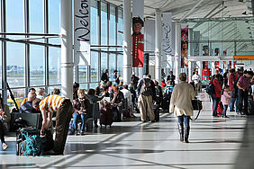 In airports, it could be used to improve passengers' experience, avoiding long queues, and increase the revenue of duty-free commercial areas.