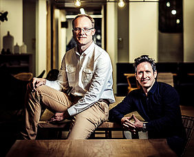 Benny Willen, CEO & Co-Founder (left), Jeffrey Meesemaecker, CTO & Co-Founder (right)