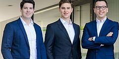 From left to right: Dennis Humhal (COO), Andreas Kunze (CEO), Vlad Lata (CTO) co-founders of KONUX.