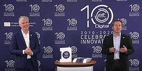 EIT Digital CEO Willem Jonker and Eric Thelen