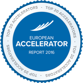 European top 20 accelerators by Gust