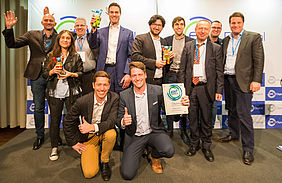 "The EIT Digital ""Digital Infrastructure"" team with the finalists ALSID, ApiOmat, Warwick Analytics and Cogia Intelligence"