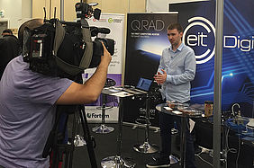 BBC interviews EIT Digital supported scale-up QARNOT at IOT Tech Expo.