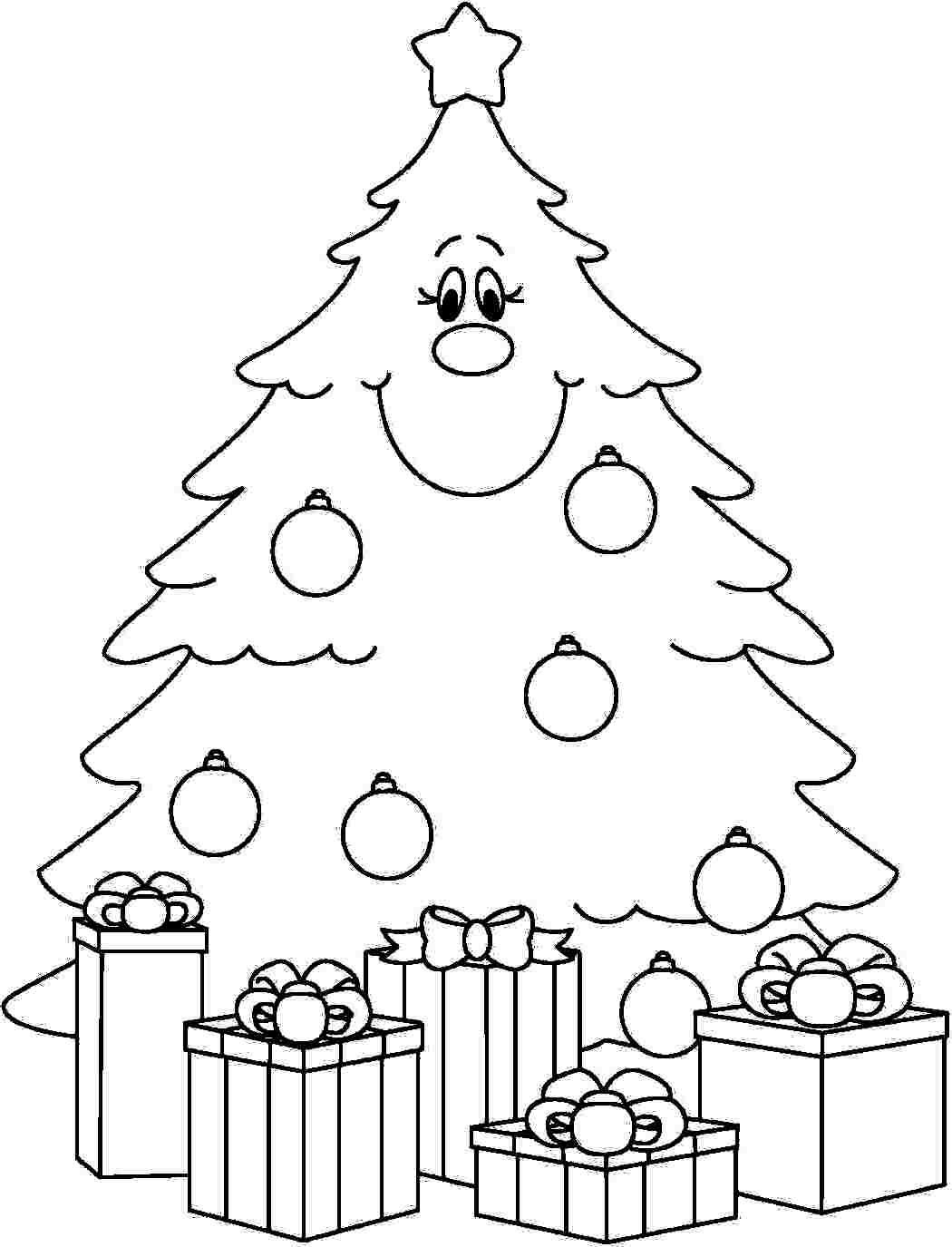Under the christmas tree eit digital for Coloring pages of christmas presents